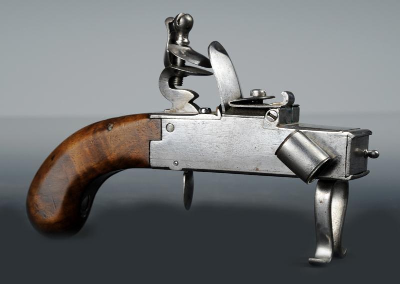 Top Pistolet briquet à silex, 19ème siècle. IJ57