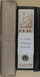 """Ct D'ARBAUD JOUQUET - """" Le Comte d'Arbaud Jouquet """" - Classeur - cartons - Manuscrit dactylographié (1)"""