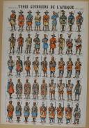 """Photo 1 : VAGNÉ (Louis) - """" Types Guerriers de l'Afrique """" - Imagerie nouvelle - Soldats a bloquer"""