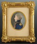 PORTRAIT MINIATURE DU GÉNÉRAL ROGER VALHUBERT, PREMIER EMPIRE. (1)