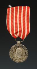 MÉDAILLE COMMÉMORATIVE DE LA CAMPAGNE D'ITALIE, second type, signée « BARRE », créée en 1859, Second Empire.