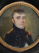 Photo 2 : PORTRAIT MINIATURE D'UN OFFICIER D'ARTILLERIE, PREMIER EMPIRE.