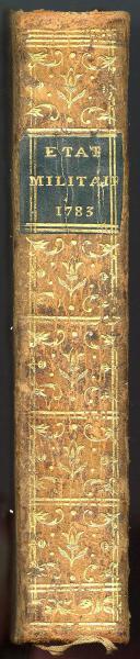 Photo 3 : ÉTAT MILITAIRE DE FRANCE, 1783.