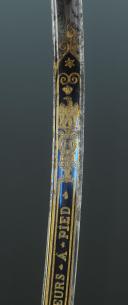 SABRE D'OFFICIER DES CHASSEURS À PIED DE LA GARDE IMPÉRIALE, PREMIER EMPIRE, 1804-1814. (7)