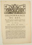 ORDONNANCE DU ROY, pour réduire chacun des régimens de Cavalerie de Royal-Allemand, Rosen & Nassau, à deux escadrons. Du 15 mars 1749. 4 pages (1)
