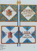 RIGO (ALBERT RIGONDAUD) : LE PLUMET PLANCHE D34 : DRAPEAUX ÉTENDARDS ROYAUME DE WESTPHALIE (IV) GARDE ROYALE 1808-1814