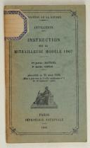 Instruction sur la mitrailleuse modèle 1907