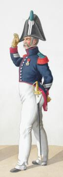 Photo 2 : 1818. Garde Royale. Infanterie. (6e Régiment), Sergent de Voltigeurs (1er Régiment).