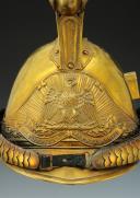 Photo 2 : CASQUE DE SAPEUR POMPIER DE LA COMMUNE DE PONT DE ROIDE, modèle 1855, Second Empire.