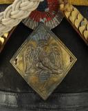 Photo 3 : SHAKO DE VOLTIGEURS DU 7ème RÉGIMENT D'INFANTERIE DE LIGNE, modèle 1810, Premier Empire.