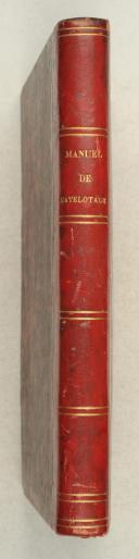 Photo 2 : DUBREUIL (P.J.). Manuel de matelotage et de manœuvre.