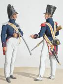 Photo 2 : Aquarelle originale par Auguste de MOLTZHEIM, 1819, Gendarmerie Royale de la Corse.