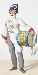Photo 2 : 1818. Garde Royale. Infanterie. (4e Régiment), Tambour de Grenadiers, Tambour-Major.
