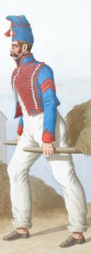 1824. Hussards. Hussard (1er Régiment de Chartres). (2)