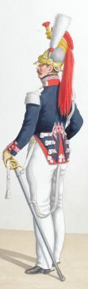 1830. Garde Royale. Cuirassiers (1er Régiment). Maréchal des Logis-Trompette, Trompette. (2)