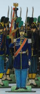 Photo 3 : SOLDATS DE STRASBOURG par Gustave SILBERMANN : 51 CHASSEURS À PIED DE LA GARDE IMPÉRIALE, SECOND EMPIRE.