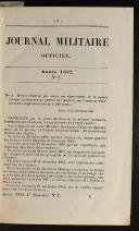Photo 3 : JOURNAL MILITAIRE OFFICIER ANNÉE 1862 (1er semestre).