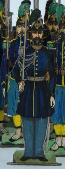 Photo 4 : SOLDATS DE STRASBOURG par Gustave SILBERMANN : 51 CHASSEURS À PIED DE LA GARDE IMPÉRIALE, SECOND EMPIRE.
