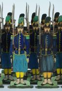 SOLDATS DE STRASBOURG par Gustave SILBERMANN : 51 CHASSEURS À PIED DE LA GARDE IMPÉRIALE, SECOND EMPIRE. (6)
