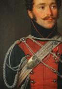Photo 6 : Albert GREGORIUS (1774-1853), PORTRAIT DE FRANÇOIS BOURLON DE CHEVIGNÉ MONCEY, CHEF D'ESCADRON DES LANCIERS DE LA GARDE ROYALE, RESTAURATION.