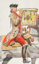 """Photo 8 : Condé cavalerie, 4 aquarelles originales par Lucien ROUSSELOT d'après """"La Sabretache"""", collection CARLET."""