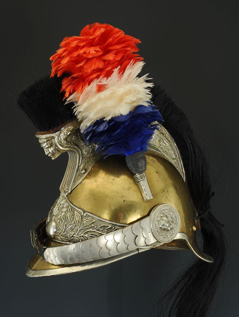 casque troupe de gendarme  u00c0 cheval  mod u00c8le 1912  troisi u00c8me r u00c9publique