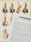 """L'ARMÉE FRANÇAISE Planche N° 91 : """"CUIRASSIERS - Trompettes - 1804-1812"""" par Lucien ROUSSELOT et sa fiche explicative. (1)"""