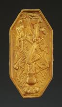 PLAQUE POUR CORDON DE RIDEAU, 19ème siècle.