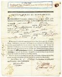 Guerres de Vendée. FORMULAIRE D'ENROLEMENT DU VOLONTAIRE, JEAN VARNERON, POUR TOUTE LA DURÉE DE LA GUERRE CONTRE LES VENDÉENS, daté 11 mai 1793.