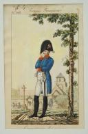 Photo 1 : MARTINET, Troupes françaises, COMMISSAIRE DES GUERRES, planche 192 : Estampe couleurs, Premier Empire.