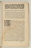 À Monseigneur de S. Luc – Capitaine Général de l'Artillerie de France –