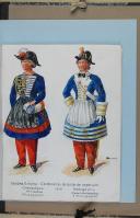 """Photo 2 : BRONNER (A) - """" Cantinières de l'armée française """" - Avec 68 aquarelles originales sous chemise - Paris"""
