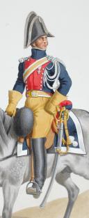 Aquarelle originale par Auguste de MOLTZHEIM, 1819, Gendarmerie Royale de la Corse. (2)