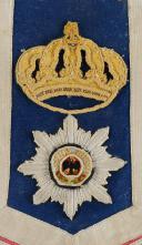 """COUVRE-FONTE """"SCHABRUNKEN"""" POUR LE REGIMENT DES CUIRASSIERS DE LA GARDE PRUSSIEN, MODÈLE 1903. (2)"""
