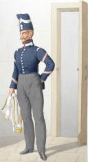Photo 2 : 1830. Garde Royale. Cuirassiers (2e Régiment). Cuirassier, Brigadier-Fourrier.