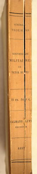Photo 2 : DUPUY. Souvenirs militaires de Victor Dupuy.