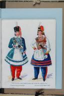 """Photo 4 : BRONNER (A) - """" Cantinières de l'armée française """" - Avec 68 aquarelles originales sous chemise - Paris"""