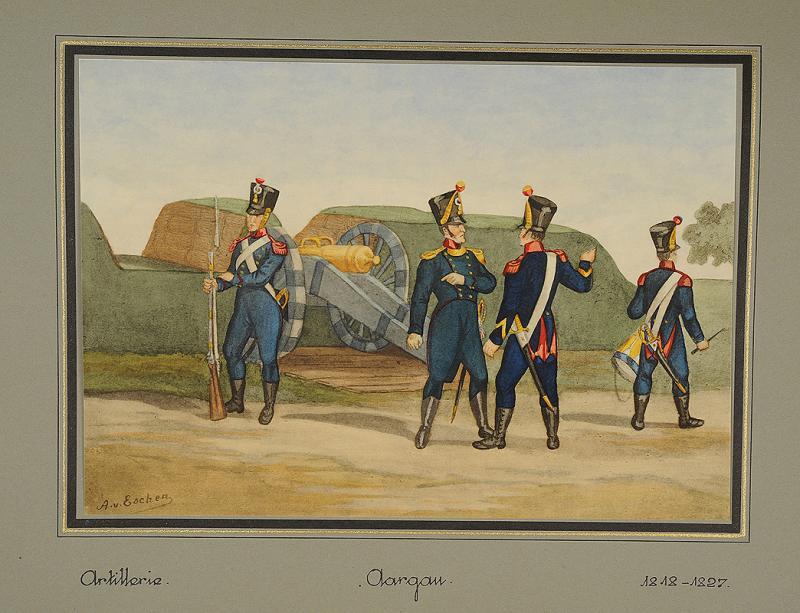 escher a von gravures militaires les derni res milices cantonales 1800 1850 par p de valli re. Black Bedroom Furniture Sets. Home Design Ideas