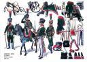 RIGO (ALBERT RIGONDAUD) : LE PLUMET PLANCHE U20 : CHASSEURS A CHEVAL 12e REGIMENT OFFICIER DE CAVALIERS 1800-1804.