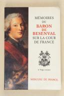Photo 1 : Mémoires du Baron de Besenval sur la cour de France.