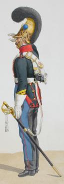 Photo 2 : 1820. Dragons. Chef d'Escadron (9e Régiment - de la Saône), Brigadier (2e Régiment - du Doubs).