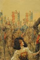 Photo 6 : JOB : DESSIN AQUARELLÉ, Le général Joffre lors de la libération de l'Alsace, 1914-1918, Première Guerre Mondiale.