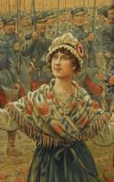 Photo 9 : JOB : DESSIN AQUARELLÉ, Le général Joffre lors de la libération de l'Alsace, 1914-1918, Première Guerre Mondiale.