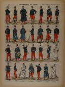 """PELLERIN - """" Infanterie de Ligne - Tous grades & toutes tenues """" - Imagerie d'Épinal - n° 147  (1)"""