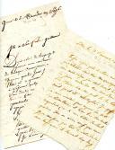 LETTRES DE (JH.) BLAISE ET (CH.) MAUPORT à leur famille, 20 juin 1799 et 10 juin 1800, siège de Gênes.Blocus de Gênes. LETTRES DE (JH.) BLAISE ET (CH.) MAUPORT à leur famille, 20 juin 1799 et 10 juin 1800.