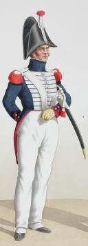 1824. Garde Royale. Infanterie. (1er Régiment), Fusiliers, Clairon de Voltigeurs. (2)