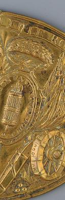 PLAQUE DE GIBERNE DE LA GARDE NATIONALE, MONARCHIE CONSTITUTIONNELLE, 1789-1792. (2)