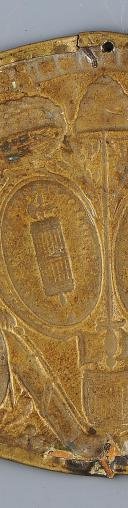 PLAQUE DE GIBERNE DE LA GARDE NATIONALE, MONARCHIE CONSTITUTIONNELLE, 1789-1792. (3)