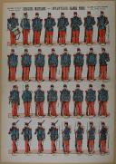 """Photo 1 : VAGNÉ (Louis)  - """" Exercices Militaires - Infanterie Grande Tenue """" - Imagerie nouvelle"""