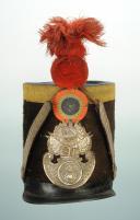 Photo 1 : SHAKO DE SOUS-OFFICIER DE LA GARDE NATIONALE, MODÈLE 1830, MONARCHIE DE JUILLET.